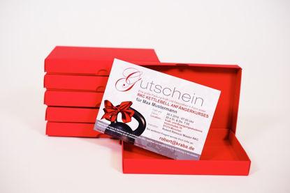 Bild von Gutschein in Geschenkbox
